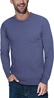 Crewneck Sweater for Men Slim Fit Ultra Soft Fitted...