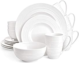 Divitis Home Infinity bone china dinnerware set 16pcs, Round Plates (Soup Bowls, Dinner Plates, Salad Plates), Dinnerware ...