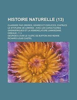 Histoire Naturelle; Class Ee Par Ordres, Genres Et Espleces, D'Aprles Le Systleme de Linn Ee: Avec Les Caractleres G En Er...