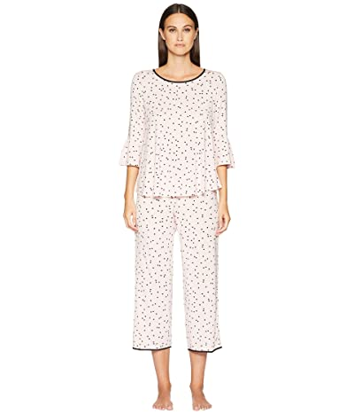 Kate Spade New York Flounce Long Sleeve Pajama Set (Scattered Dot Pink) Women