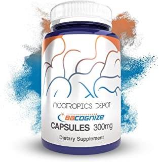 BaCognize Bacopa Monnieri Capsules | 300mg | 240 Count | Ayurvedic Herb | Nootropic Brain Booster | Supports Stress Manage...