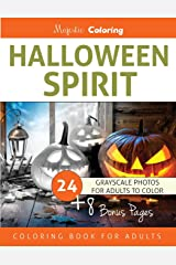 Halloween Spirit: Grayscale Coloring Book for Adults Paperback