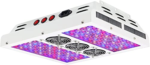VIPARSPECTRA  PAR600 600W 12-band LED Grow Light - 3-Switches Full Spectrum for Indoor Plants Veg and Flower (Pack of 2)