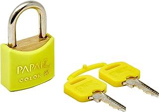 Cadeado Color Line, Papaiz, CR30, Amarelo