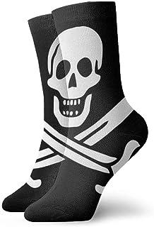 Tammy Jear, Calcetines cortos para adultos con calavera pirata en blanco y negro Calcetines deportivos para hombres y mujeres Yoga Senderismo Ciclismo Running Soccer Sports
