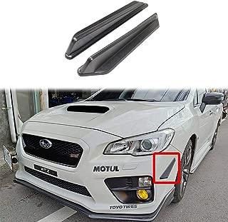 autopartsTW Compatible with 2015-2019 Subaru WRX STI Sedan Front Bumper Canard Splitter Side Fins Air Knife Unpainted