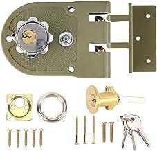 Slot Zinklegering Duurzaam Mechanische Schuifdeur Lock Home Security Anti-diefstal -proof Lock Half/Volledige/Reverse/Voll...