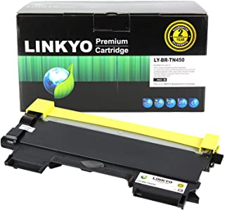 LINKYO Compatible Toner Cartridge Replacement for Brother TN450 TN-450 TN420 (Black, High Yield)