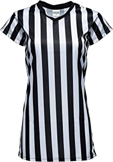 Murray Sporting Goods Women's Black and White Stripe Referee Shirt,  Official Jersey for Refs,  Waitresses and More