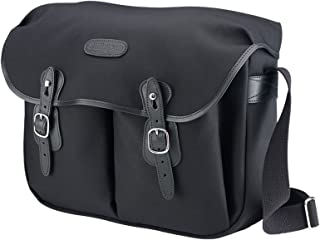 Billingham Hadley Shoulder Bag Large (Black with Black Leather Trim)