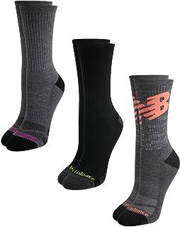 New Balance Women's Mositure Wicking Cushioned Fashion Crew Socks (3 Pack)
