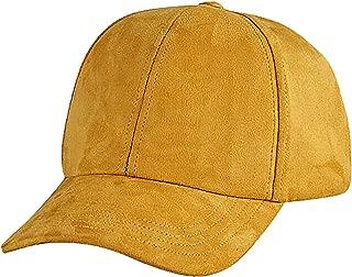 Maze Women's Soft Pastel Cotton Polyester Faux Suede Snapback Baseball Cap
