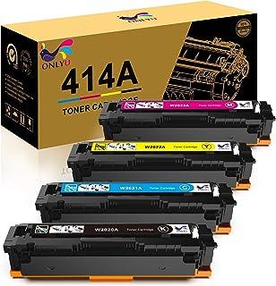 ONLYU Compatible Toner Cartridge Replacement for HP 414A W2020A W2021A W2022A W2023A 414X HP Laserjet Pro MFP M479fdw M479...