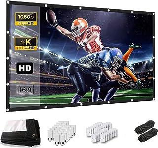 Keenstone Projectiescherm HD 16 : 9 266x149 cm (120 inch) - Projectiescherm Ondersteuning Dubbelzijdige Projectie voor Thu...