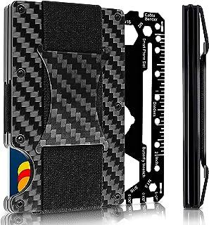 Carbon Fiber Wallet - Front Pocket Wallet - Money Clip - RFID Blocking Wallet - Metal Wallet - Mens Wallet - 2020 Version