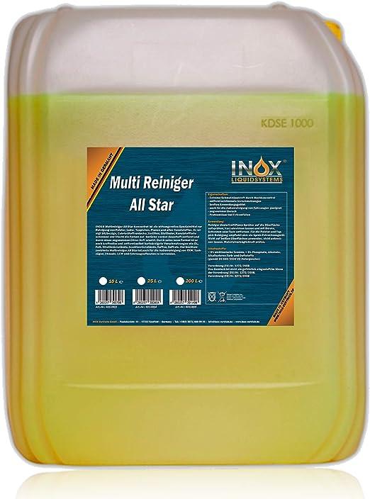 Inox All Star Multireiniger 10l Universalreiniger Für Textilien Polster Und Kunststoffe Auto
