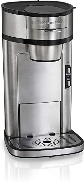 Hamilton Beach The Scoop Single Serve Coffee Maker Fast Brewing Stainless Steel 49981A