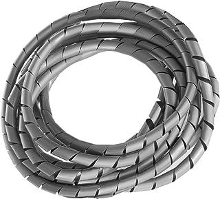 Maclean Organizador de Cables en Espiral Color Plateado 3 m - 4 diámetros (MCTV-684S - 5x6mm)