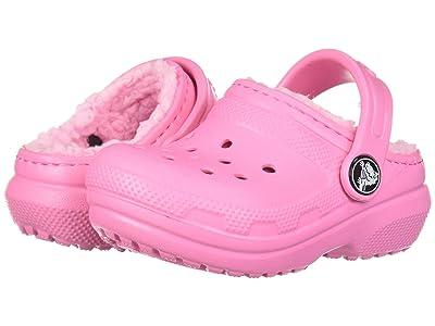 Crocs Kids Classic Lined Clog (Toddler/Little Kid) (Pink Lemonade/Pink Lemonade) Girl