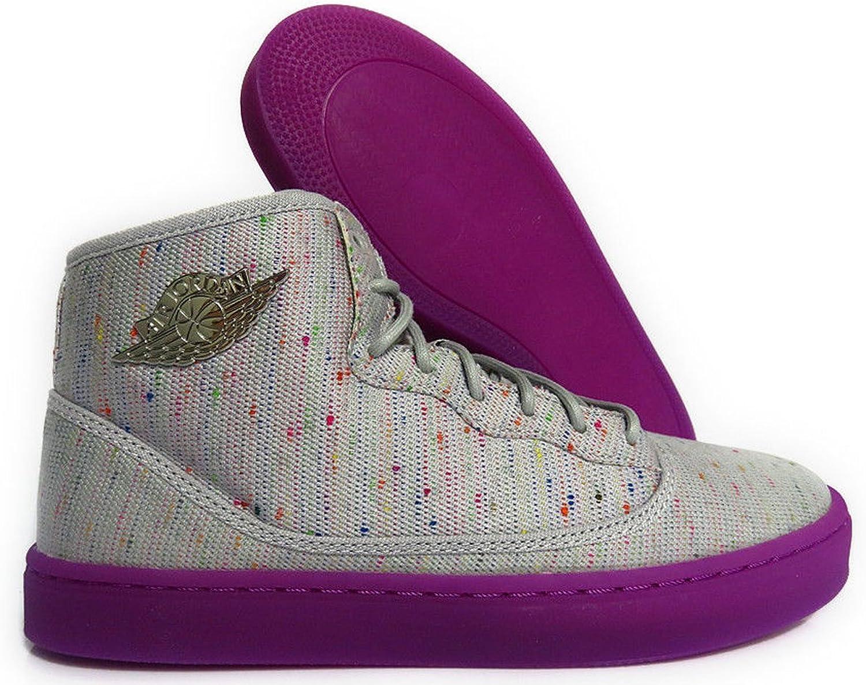 Nike Jordan Jasmine GG Girls Lifestyle Sneakers New Wolf Grey Purple Dusk -