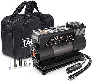 TACKLIFE M1 Compresor Aire Coche, Inflador Digital 150PSI, 40L/Min, Compresor de Aire 12V, Bomba Electrico con Manómetro, Pantalla LCD, 3 Modos de luz LED, Fusible Extra, 4 Adaptadores de Boquilla