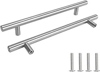 Drenky 2 stks Deurklink roestvrij staal Zilver 160mm gat centra deur keukenkast lade handvat pull kast handvat met schroeven