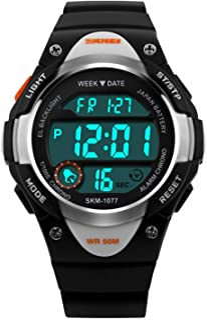 Boys Girls Sport Digital Watch, Kids Outdoor Waterproof...