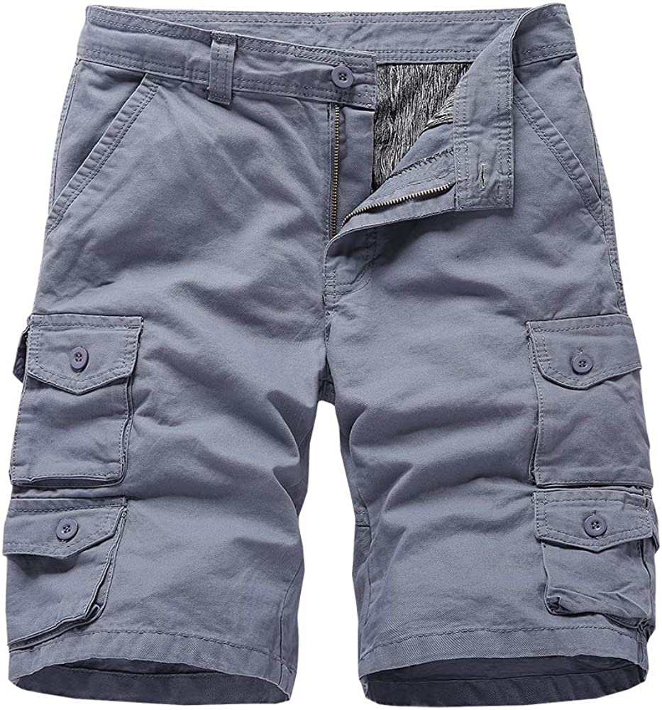 Xalutec Men's Cargo Shorts Relaxed Loose Fit Pants with Pockets Casual Outdoor Summer Cargo Short for Men