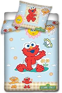 Sesame Street Single Duvet Cover and Pillowcase Set,Kids Duvet Cover,135X 100cm