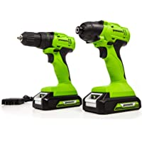 Deals on Greenworks CK24B2210 24V Drive Drill Impact Driver Combo Kit