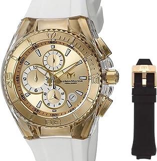 [テクノマリーン] TechnoMarine 腕時計 Technomarine Unisex Cruise Star 40mm Gold Dial Watch + Bonus Strap 日本製 TM-115311 【並行輸入品】