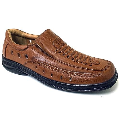a4c848860ded63 Veeko A1V2751B Men's Dress Sandals Closed Toe Elastic Gores Huarache Loafer  Slip-on Casual Shoes