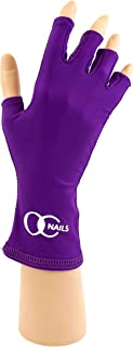 OC Nails UV Shield Glove (AMETHYST ~ PETITE) Anti UV Glove for Gel Manicures with UV/LED Lamps