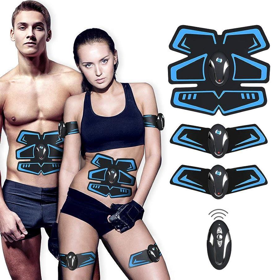 ここに口量電気腹部筋肉刺激装置、ボディウエストトレーナー、フィットネス痩身ベルト男性と女性の減量マッサージ