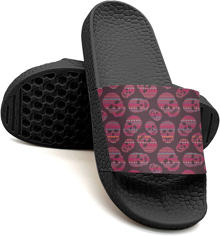 Qiopw rtw Bathroom Shower Non-Slip Sandal Red Skulls Indoor Slipper shoes for Women Girls