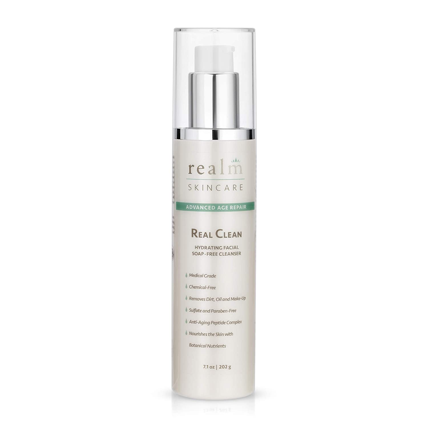 Real Clean Moisturizing Cleanser Max 49% OFF Genuine Face with Hyaluronic Wash Acid