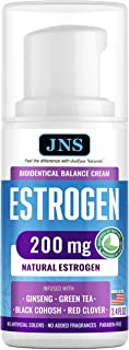 Estrogen Estriol Cream for Menopause Relief (Bioidentical) - PCOS Balance Supplement with 200 mg Phytoestrogen & Black Coh...