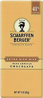 Scharffen Berger Milk Chocolate Bar, 3-ounces (Pack of 6)
