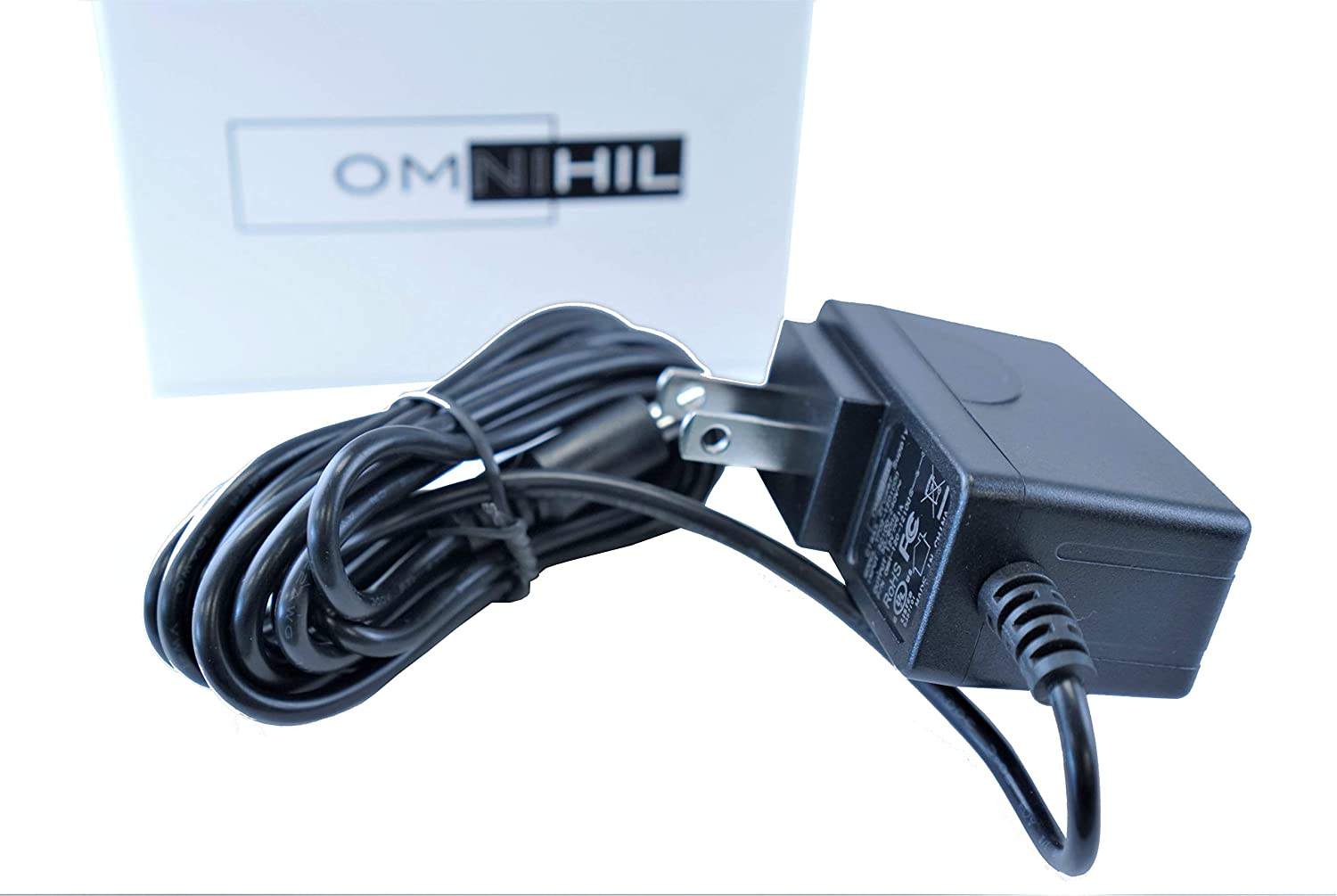 [UL Listed] OMNIHIL 8 Feet Long AC/DC Adapter Compatible with Behringer V-Tone Bass Driver DI BDI21 Effects Pedal Power Supply Charger