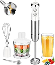 Blusmart Hand Blender Set 5 Attachment, 800 W, stepless speeds, Anti-Splash Hand Blender with Milk frother, 500 ml Choppe...