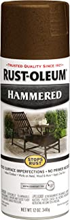 Rust-Oleum, Brown, 210880 Hammered Metal Finish Spray, 12-Ounce