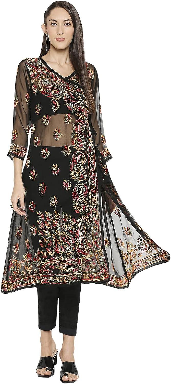 Indiankala4U Lucknow Chikankari Hand Japan Maker New Embroidered Long K Special price Angrakha