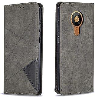 حافظة هاتف نوكيا 5.3 من مونكيس، حافظة محفظة جلدية مغناطيسية مع فتحة بطاقة وجيب لهاتف نوكيا 5.3 6.6 بوصة، رمادية