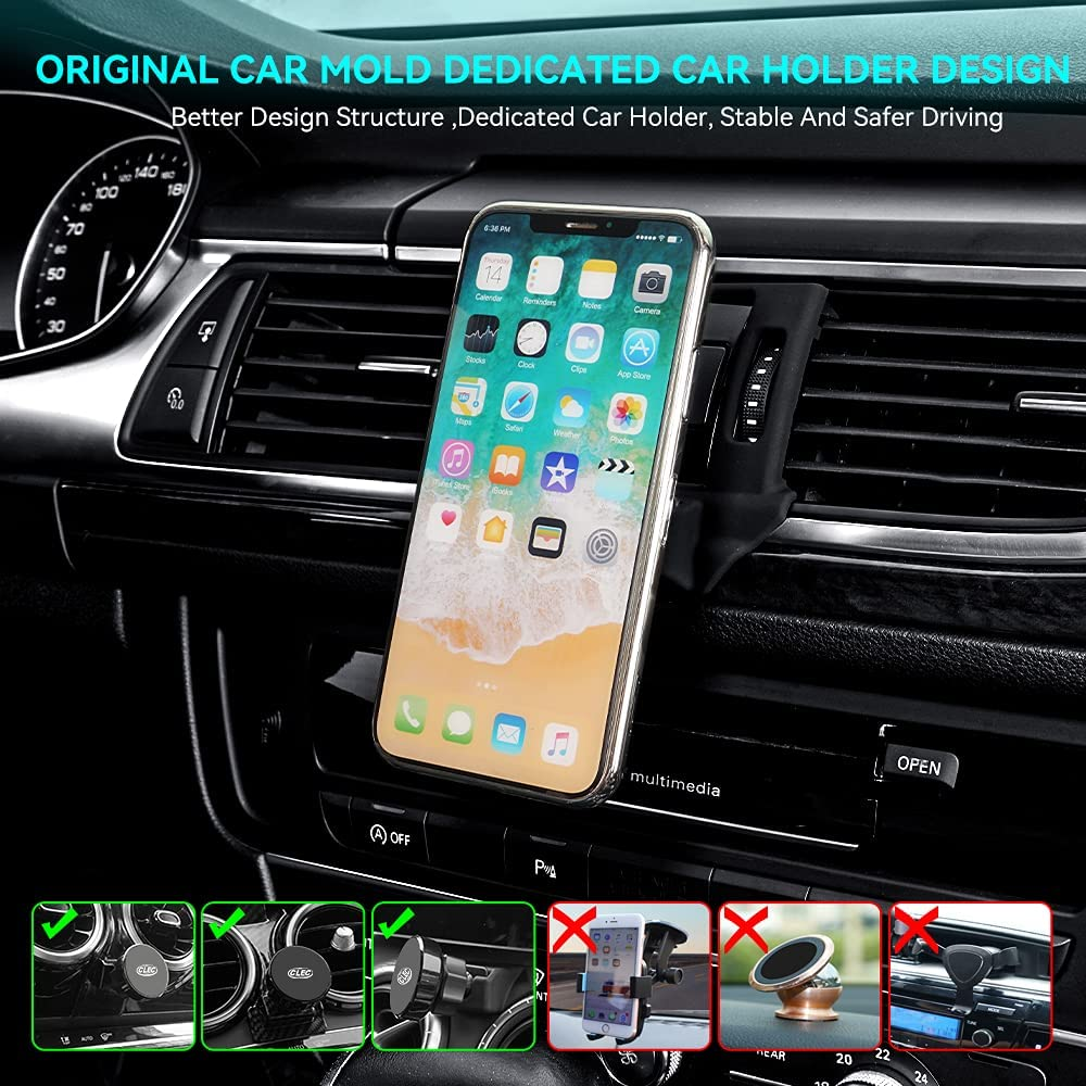 Zchan Car Phone Holder fit for Mazda6,Air Vent Phone Mount fit for Mazda6 2015-2017,Custom fit Magnetic Phone Holder Compatible for All Phones