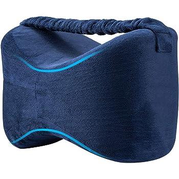 UEOTO Kniekissen für Seitenschläfer mit Gummiband, Orthopädisches Kissen Seitenschläferkissen Kniestützkissen Beinkissen zum Schlafen mit Memory Schaum