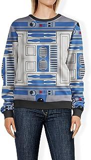 Rainbow Rules Little Blue Droid Womens Sweatshirt