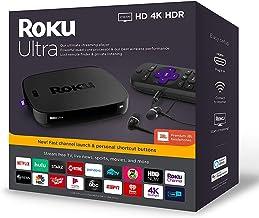 Roku Ultra Streaming Media Player 4K/HD/HDR Bundle - Enhanced Voice Remote W/TV Controls and Shortcuts - Premium JBL Headp...