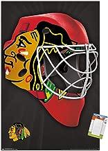 Trends International NHL Chicago Blackhawks-Mask Mount Wall Poster, 14.725