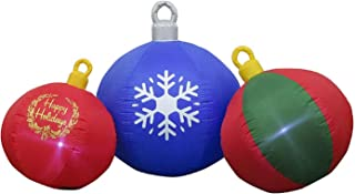 Gemmy Christmas Inflatable Happy Holidays Ornament Scene
