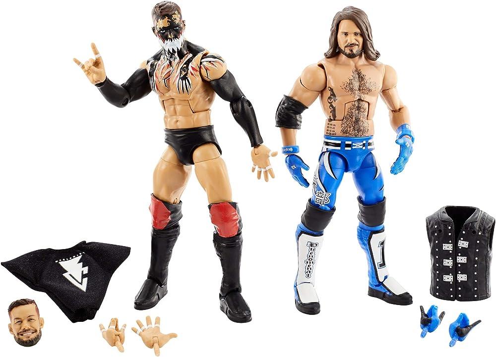 Mattel,wrestlemania wwe,finn balor vs aj styles elite collection GLG16
